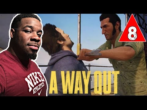A Way Out Gameplay Walkthrough Part 8 - CONSTRUCTION SITE CHASE !! A Way Out