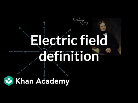 Electric field definition | Electric charge, field, and potential | Physics | Khan Academy