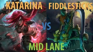 Katarina vs Fiddlesticks - Mid lane - Season 5 - Victory - League of Legends Gameplay