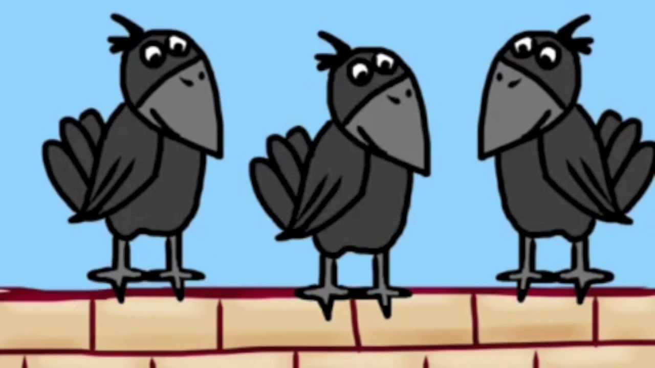 Image result for Images of crows sitting on a line