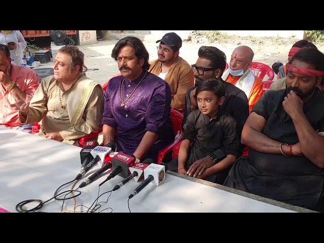 Ganesh Acharya, Remo Dsouza, Ravi Kishsn,Manoj Joshi shoots for Dehati Disco in Lucknow