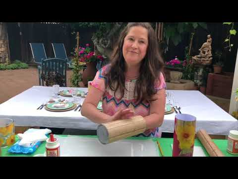 Luminary DIY Centerpieces Candleholders with Mod Podge