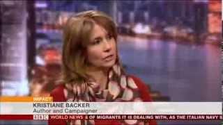 Kristiane Backer on BBC World News 100 Women