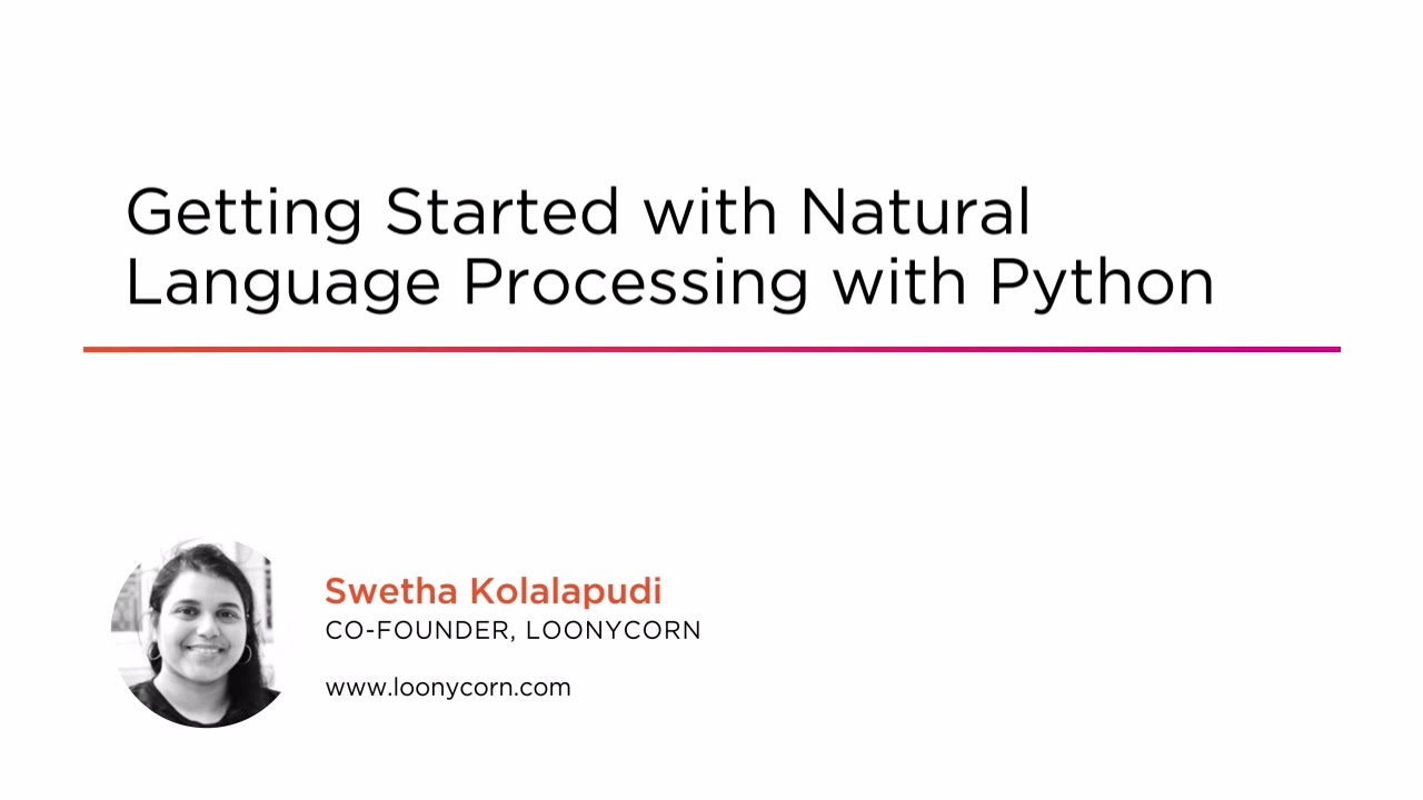 Getting Started with Natural Language Processing with Python