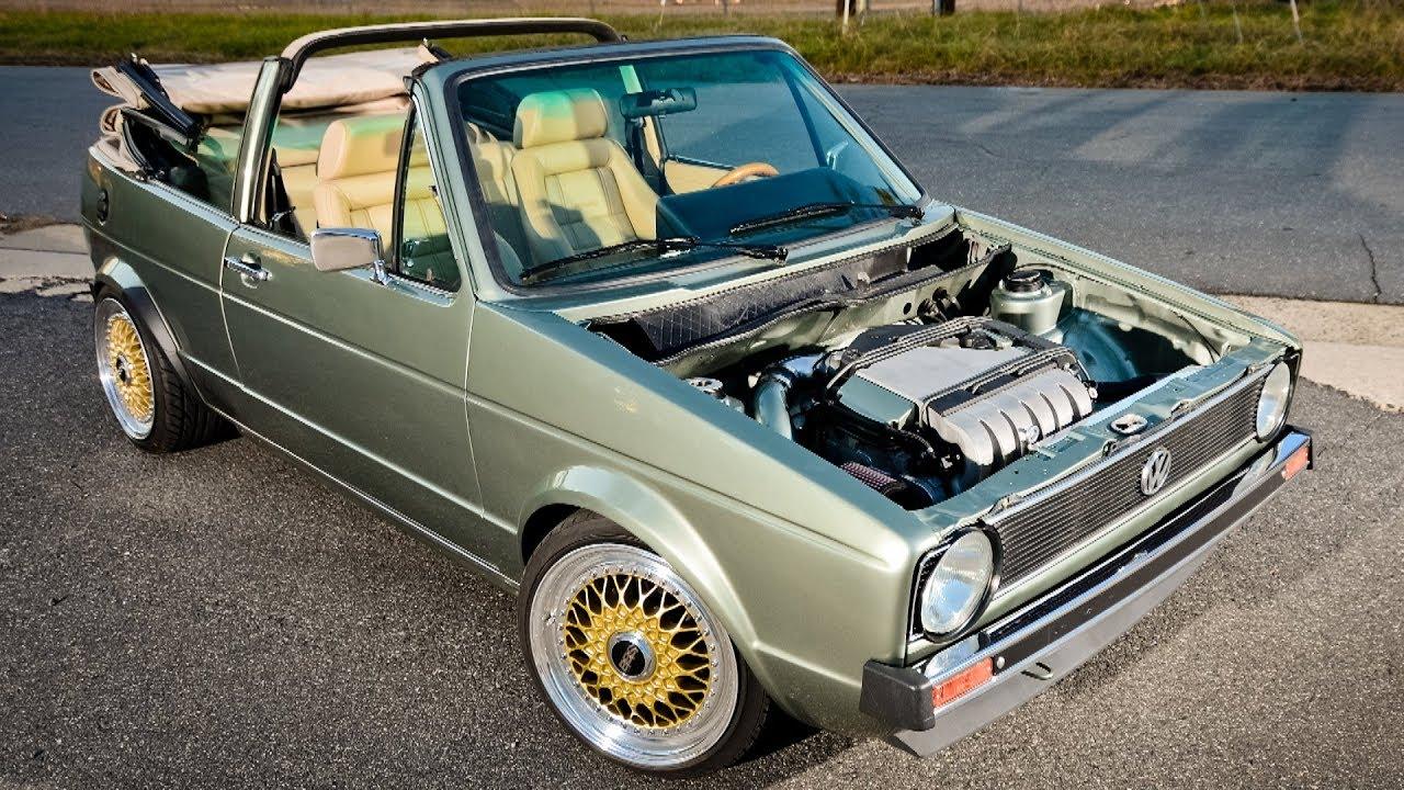 1986 Volkswagen Golf Mk1 Vr6 Convertible Rabbit Restomod Project Youtube