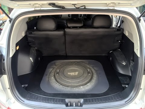 Audio Mobil Stealth Subwoofer Flat Design Kia Sportage Youtube