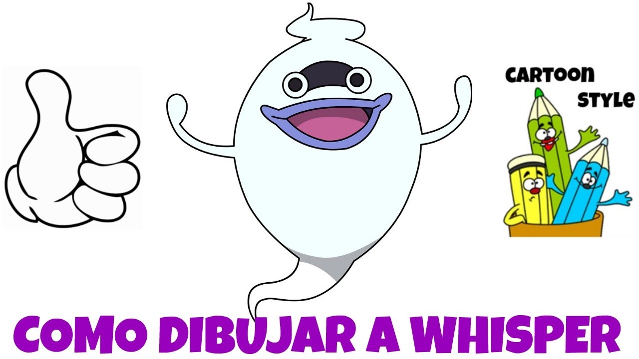 Como Dibujar a Whisper  How to Draw Whisper  Yo Kai Watch