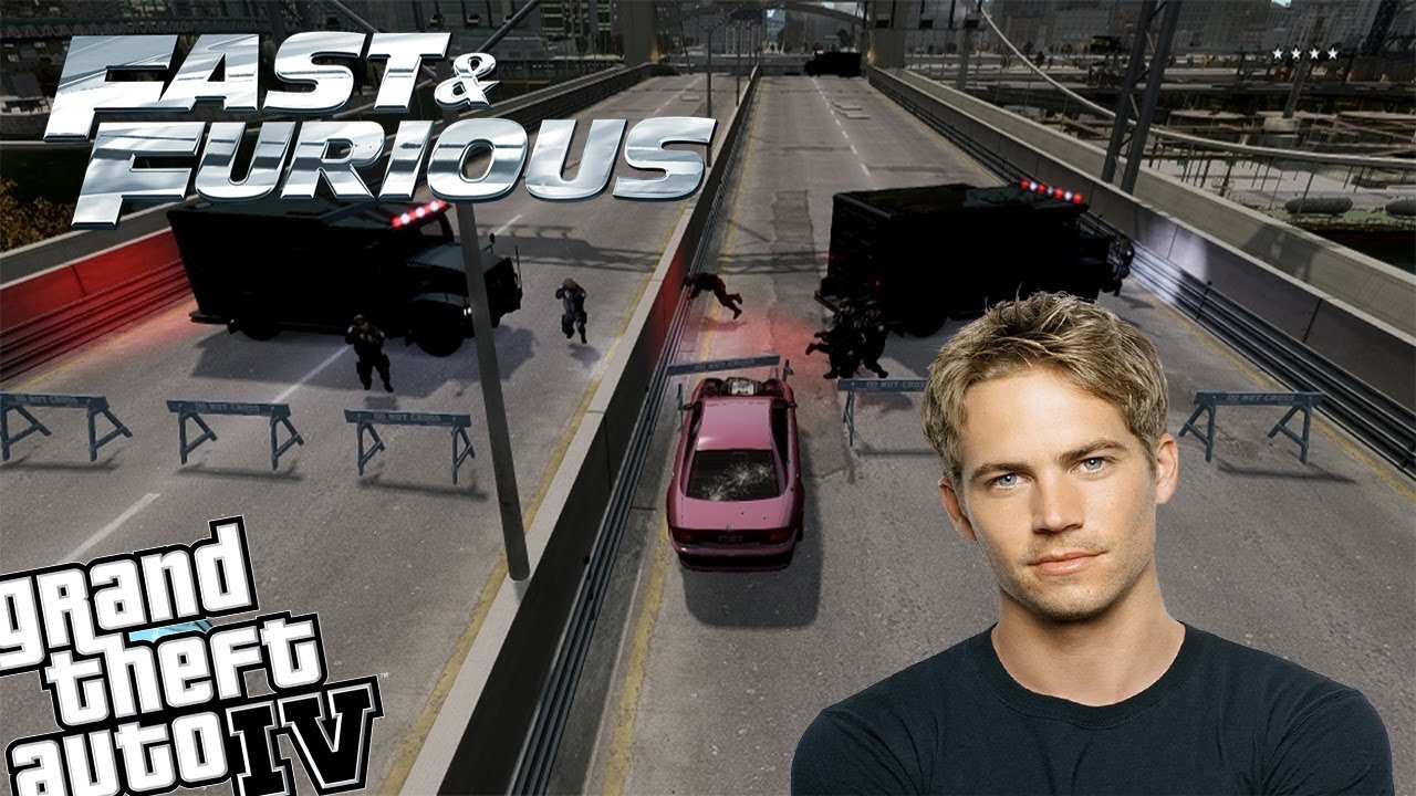Gta Iv Rip Paul Walker Brian Oconner Fast And Furious 7 Canceled