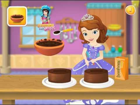 Мультик игра София Прекрасная готовит торт (Sofia Cooking Princess Cake)