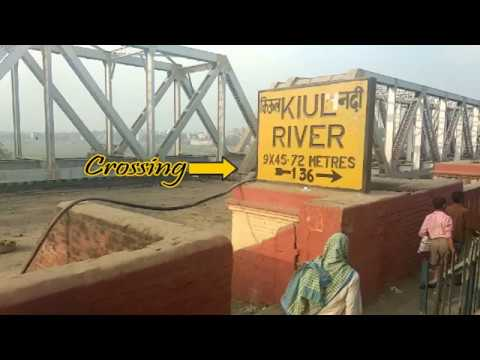 Train Crossing Kiul Bridge + New Bridge Construction + New Platform Construction At Lakhisarai