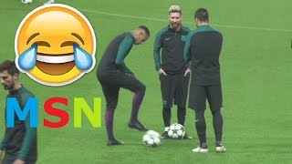 MESSI, NEYMAR & SUAREZ | MOMENTOS DIVERTIDOS | FUNNY MOMENTS