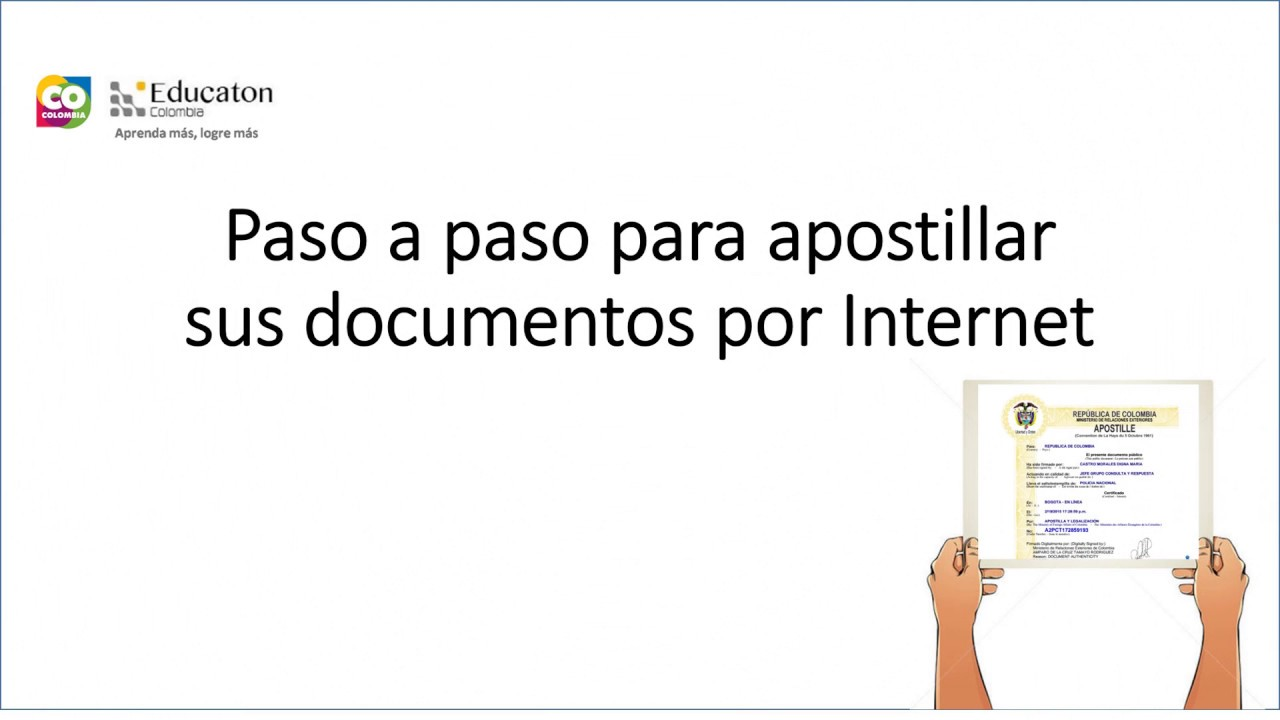 Apostilla por internet - YouTube