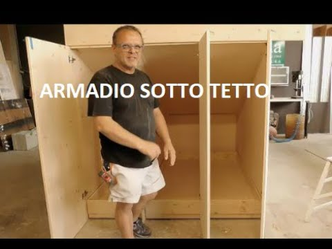 Costruire Armadio A Muro Fai Da Te.Armadio Guardaroba Sotto Tetto Diy Fai Da Te Tutorial Youtube