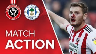 Blades 4-2 Wigan - match action