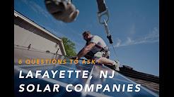 Solar Companies in Lafayette NJ 07848