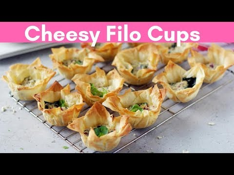 Cheesy Filo Cups | Easy Spanokopita Recipe | Spinach Feta Filo Cups