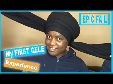 MY FIRST GELE || How to TIE GELE || DJ #50