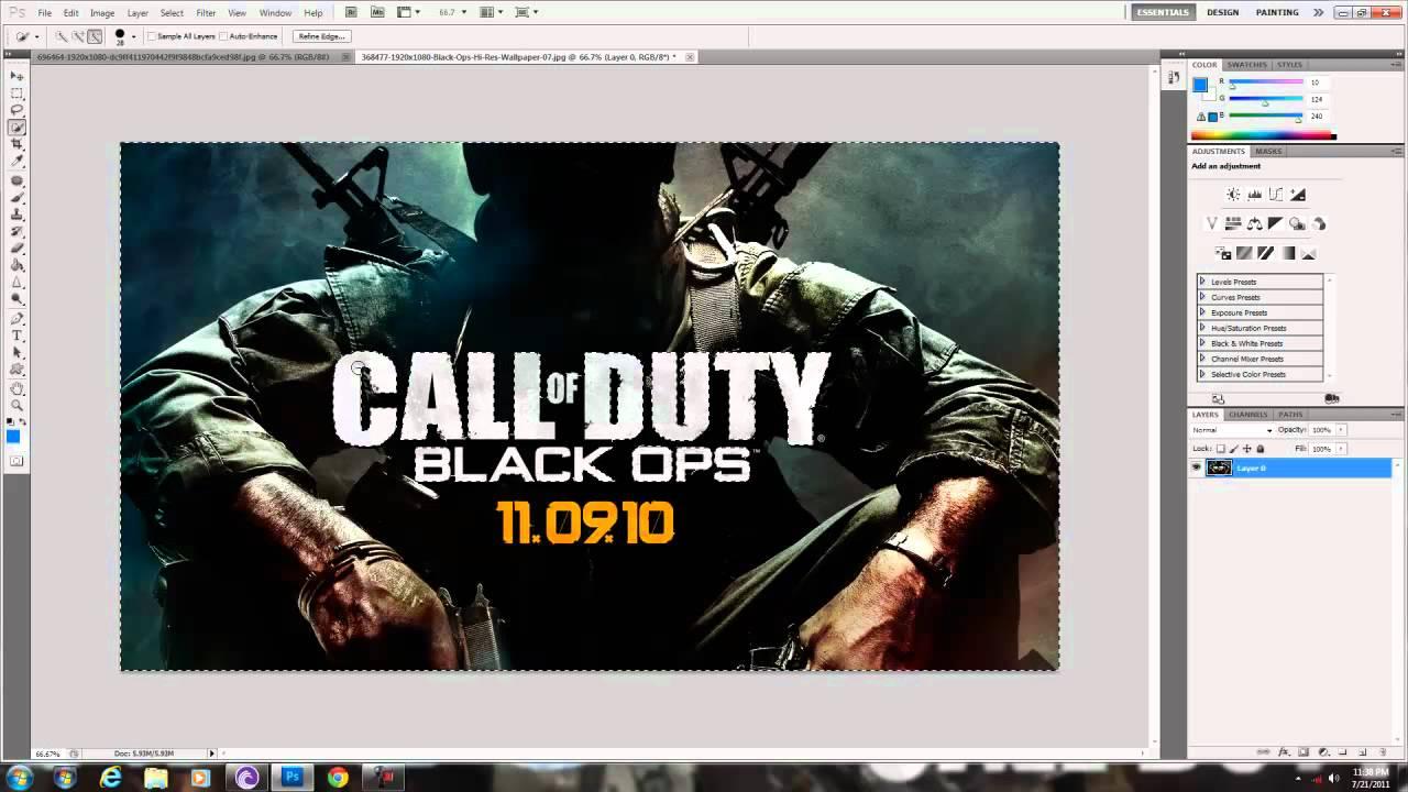 put logo on photo photoshop