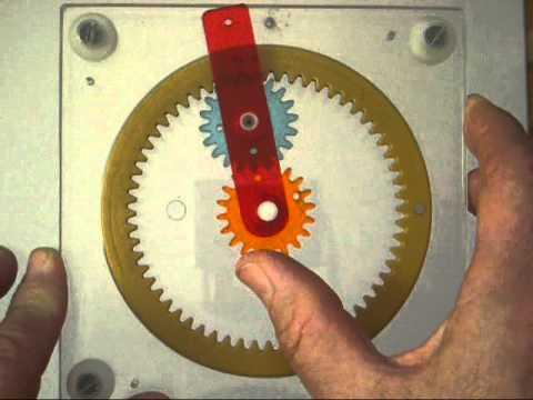 Planetary Gear Set >> epicyclic train (type one). - YouTube