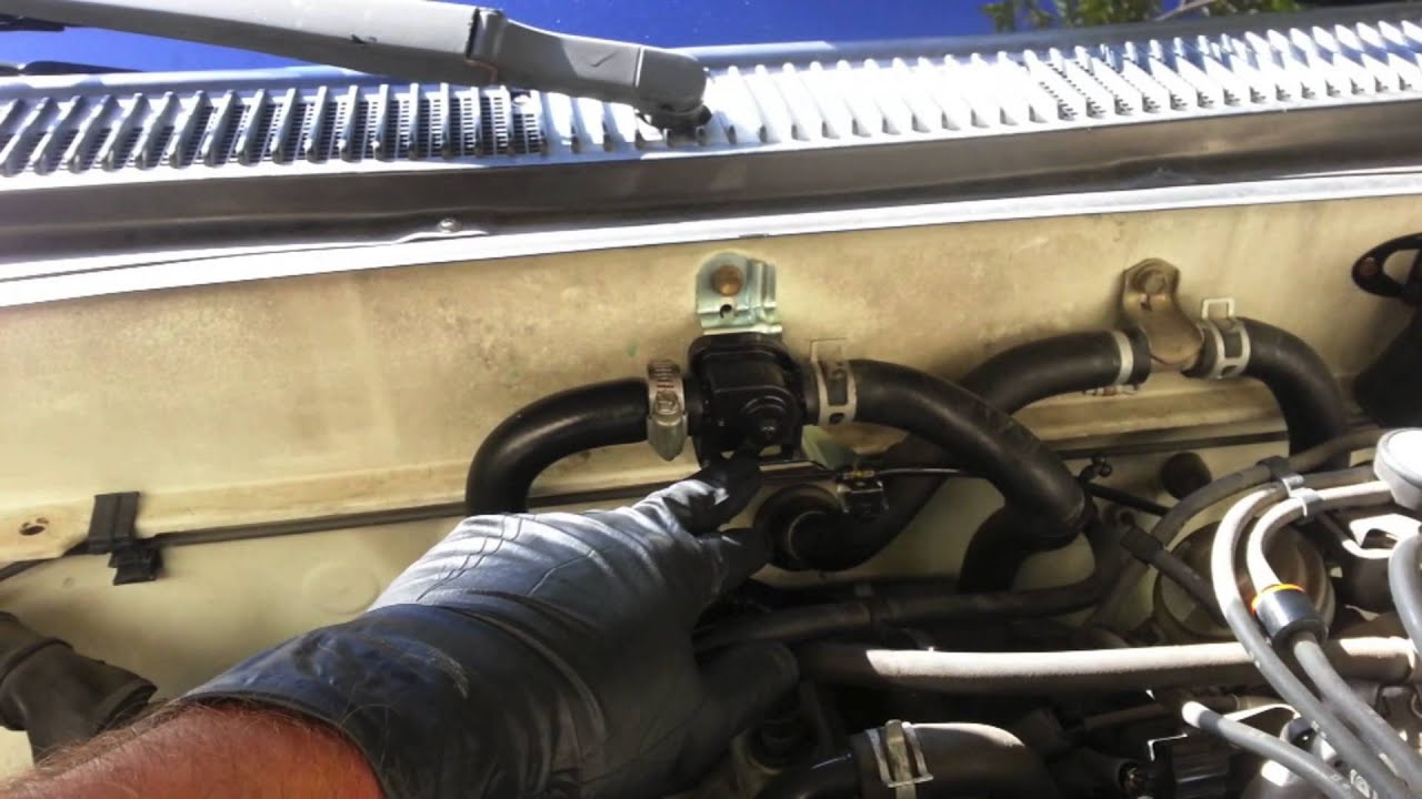 how to replace a heater control valve on a toyota