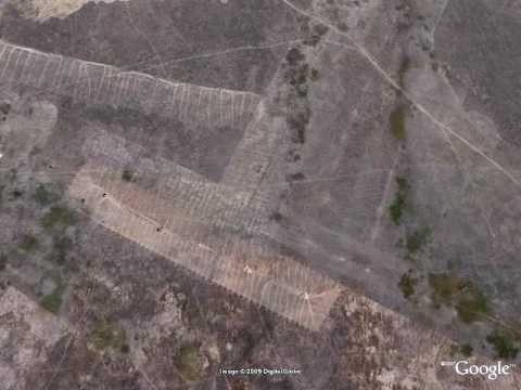 Lined Kazakhstan, part 2, captured by Google Earth