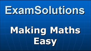 Matrices - Minors of elements in a 3x3 matrix   ExamSolutions - maths problems answered