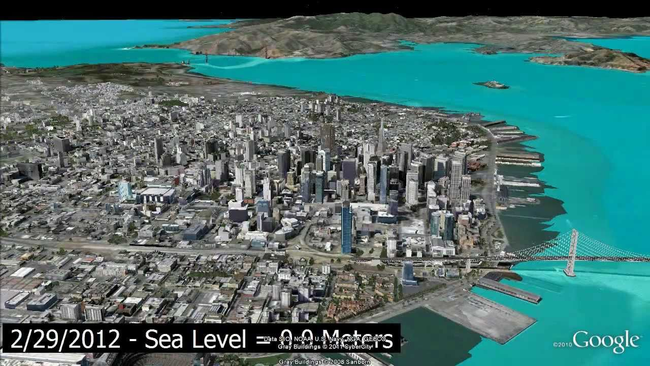 RWC RockWorks EarthApps Sea Level Rise Simulations - Google maps sea level