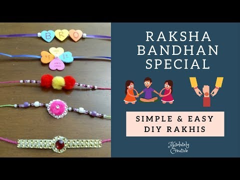 5 Simple & Easy DIY Rakhi making ideas at home | RakshaBandhan Special | Kids Special Rakhi ideas