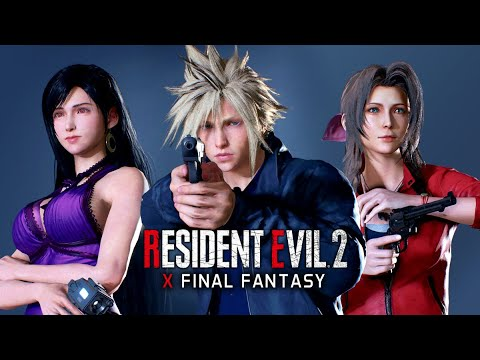 Resident Evil 2 Remake x Final Fantasy ★ THE MOVIE / FULL STORY 【Cloud, Aerith & Tifa Mods / 4K60】