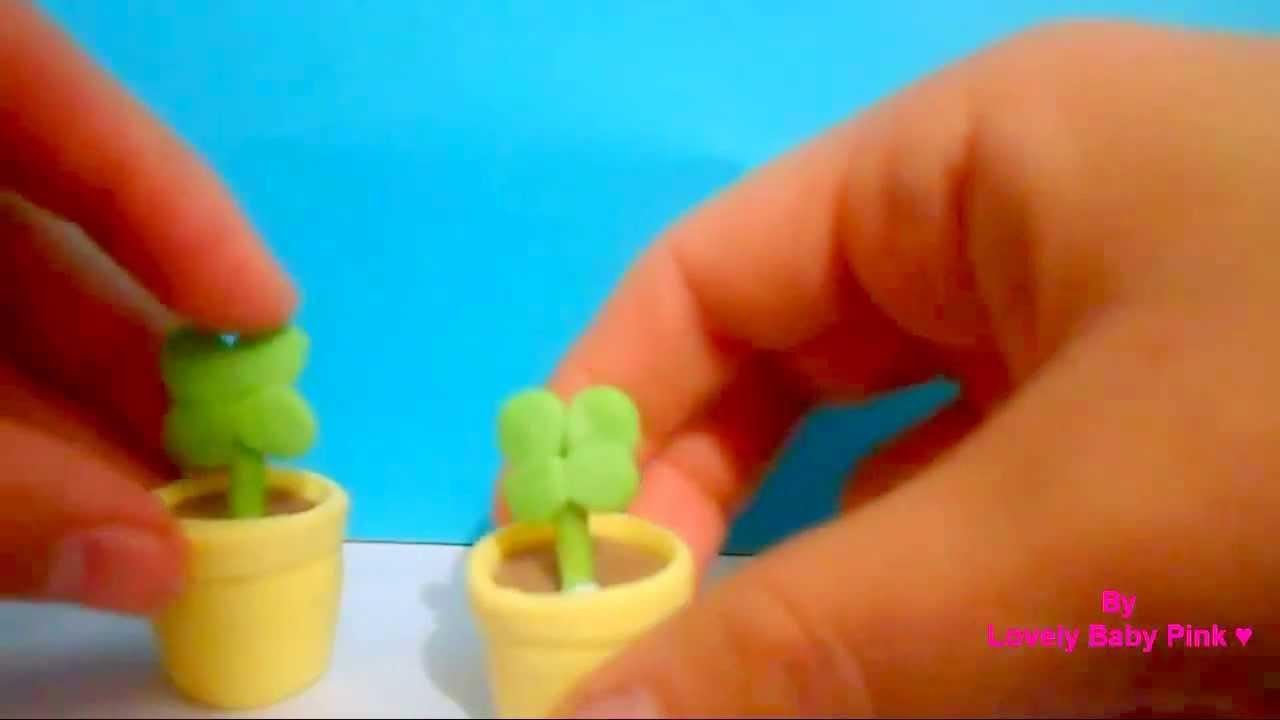 Plantita de pasta flexible con maceta manualidades for Manualidades con palets paso a paso
