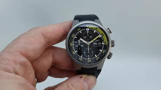 2007 IWC Aquatimer Aquatimer men's divers chronograph watch in titanium. Model reference IW371918