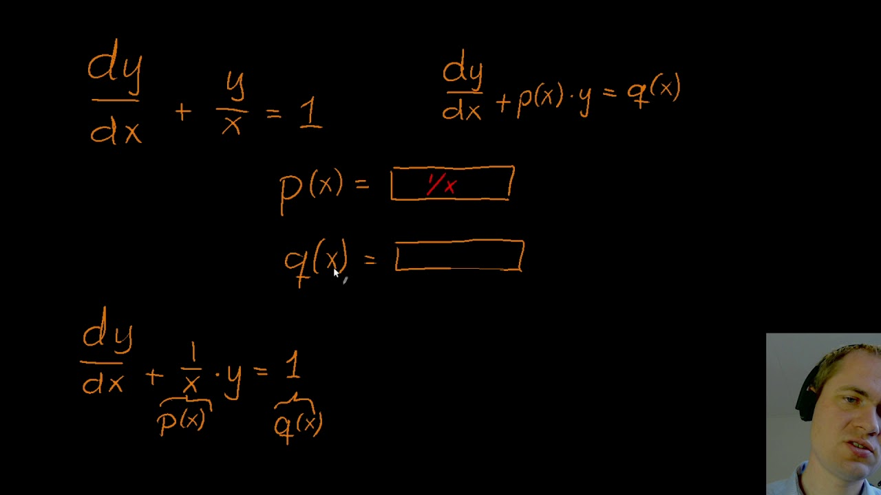 Første ordens lineære differentialligninger