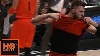 Jusuf Nurkic Gets Technical Foul / Blazers vs Bucks