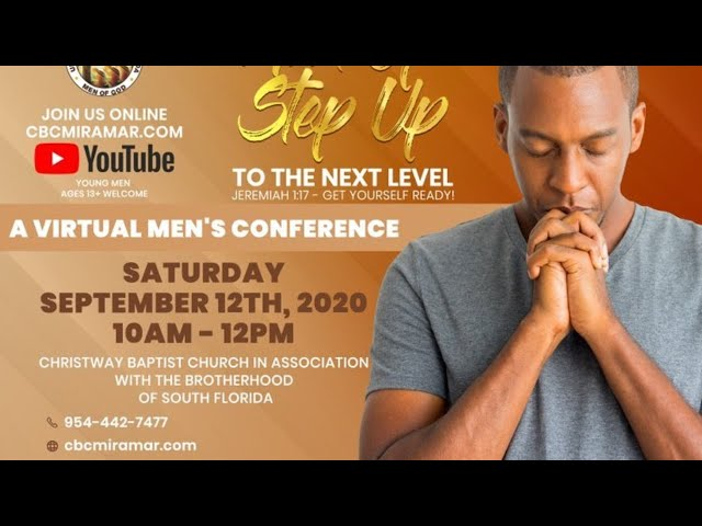 Man Up, Step Up! Men's Virtual Conference