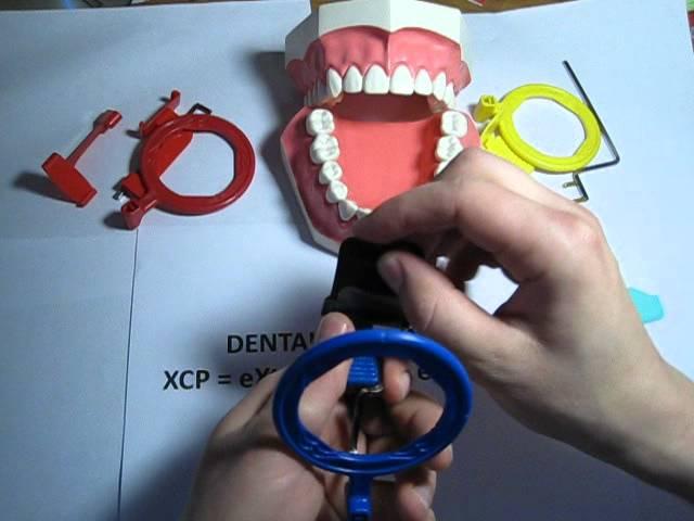 How to use an Anterior (blue) XCP dental film / PSP holder for Dental Xrays