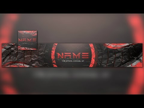 Free Photoshop Dark And Red Banner&Avatar Template | Tutorial + Download