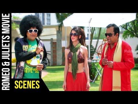 Romeo & Juliets Malayalam Movie Scenes | Ali and Brahmanandam Comedy | Allu Arjun | Iddarammayilatho