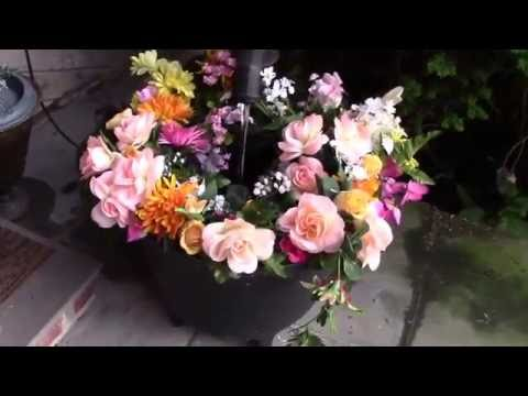 Artificial Flowers Patio Garden