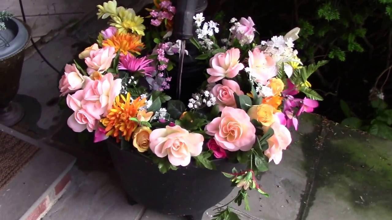 Artificial Flowers Patio Garden. JournalsJewelsandJourneysMagazine.  JournalsJewelsandJourneysMagazine