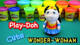 How to make the cutest Wonder-Woman with Play-Doh