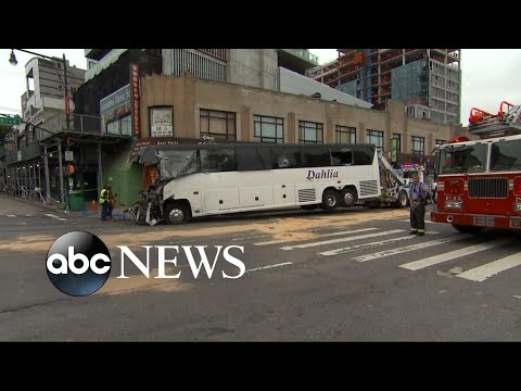 3 dead after buses collide in Queens in New York