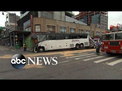 3 dead after buses collide in Queens in New York