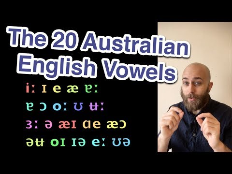 The 20 Australian English Vowels | Learn Australian English | Aussie Pronunciation