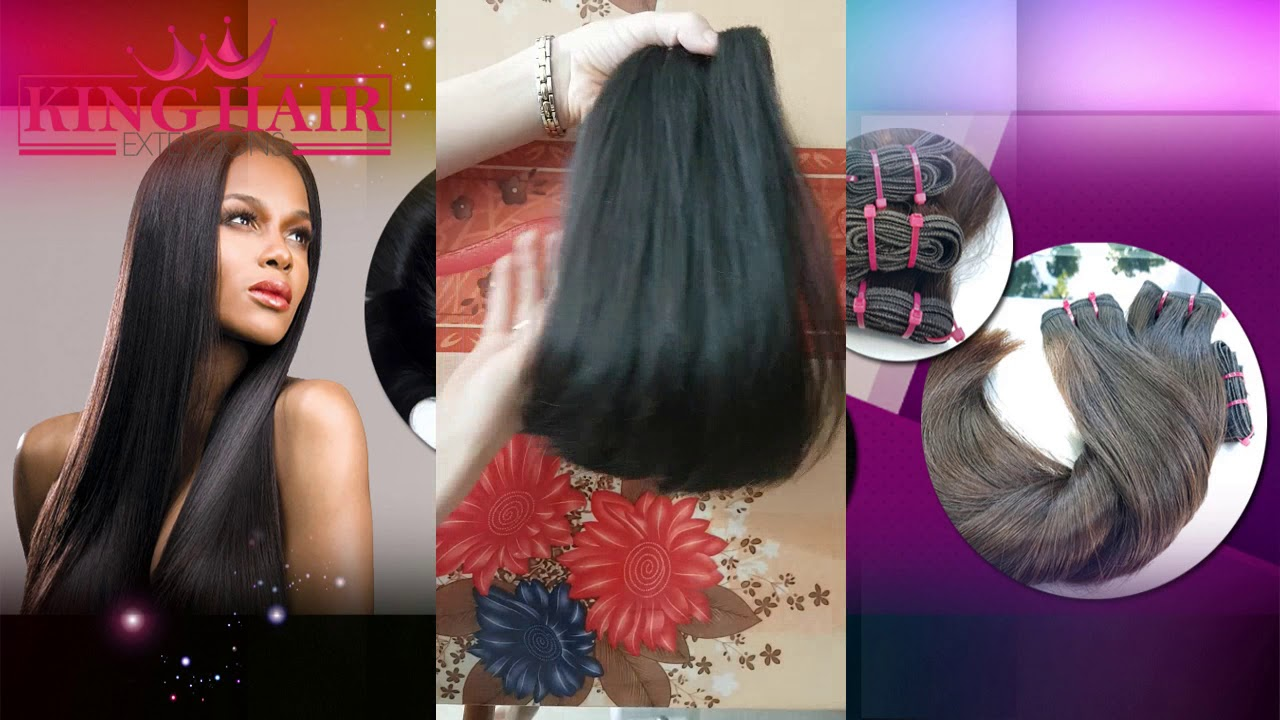 Vietnam Straight Remy Hair Super Double Drawn King Hair Extensions