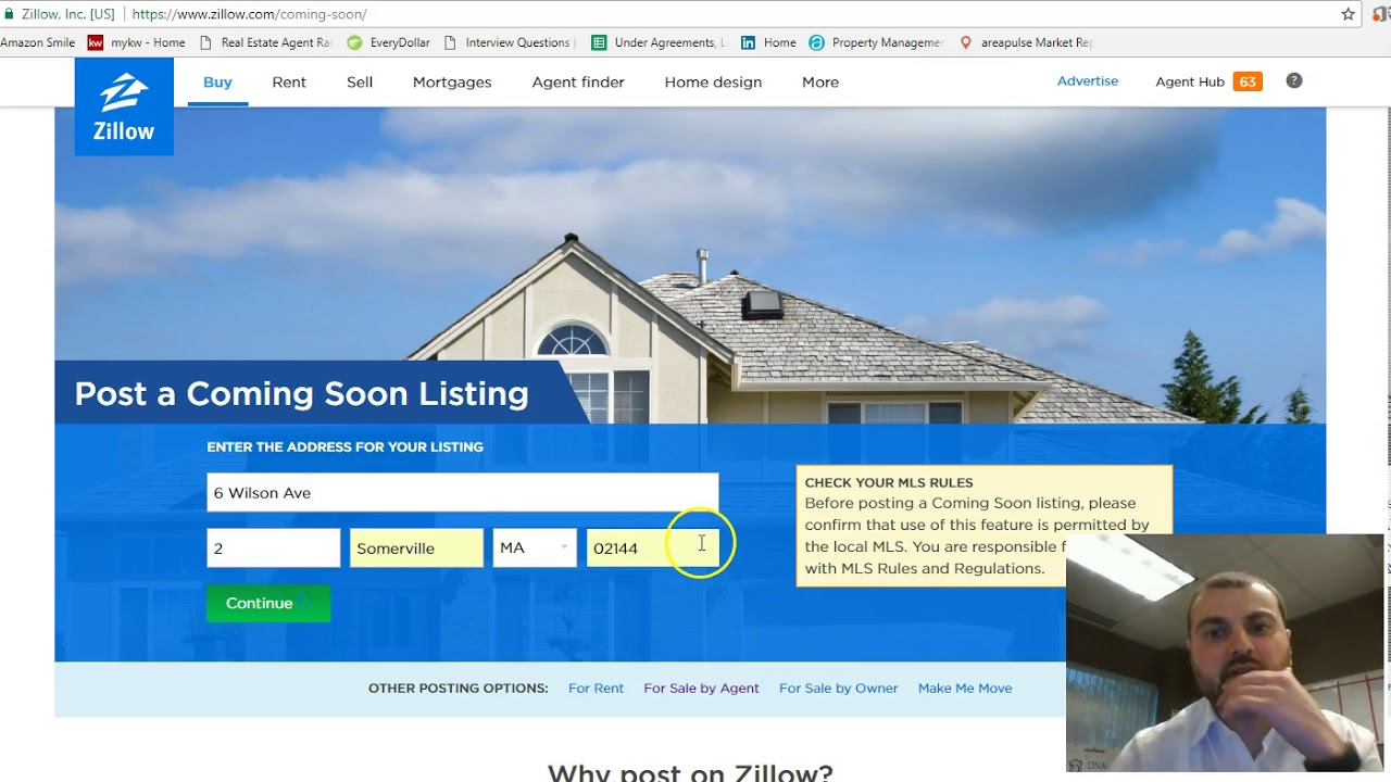 How to create a coming soon listing on zillow?