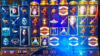 #G2E2016 Aristocrat   NEW Game of Thrones 2 slot machine(If you are a Game of Thrones fan, then you'll want to check out this newest game when it comes out. Note all the Reels! ++ Please Subscribe & Like: ..., 2016-10-07T13:00:02.000Z)