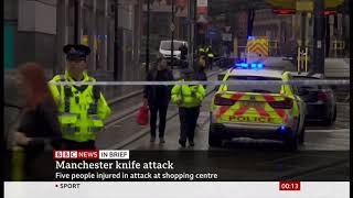 Manchester Arndale stabbings - five injured (England) - BBC News - 12th October 2019