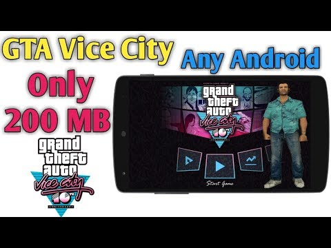 Download And Play GTA Vice City Game Only 200 MB Any Android Mobile Full Step In Hindi