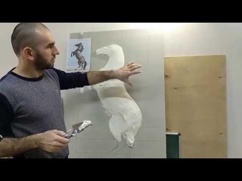 Барельеф лошадь полное видео. Bas-relief Horse Full Video