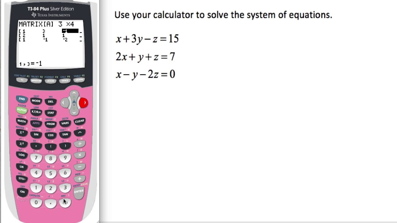 how to use linear solve in calculator